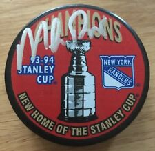 MIKE RICHTER Signed NY Rangers 1994 Stanley Cup Puck With Hologram COA & PROOF