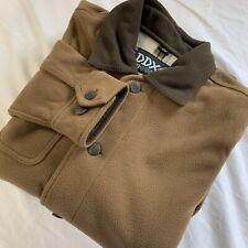 DDX Dri Ducks Mens Jacket Small Beige Long Sleeve Full Zip
