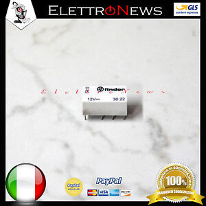 Rele 30.22 Finder 30.22 Mini Relè Per Circuito Stampato 12VDC 12V rele