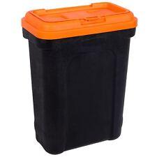 Pet Food Storage Container Animal Dry Cat Dog Bird Food Box Black Orange Large