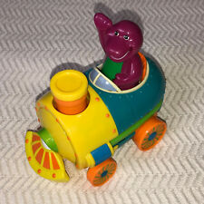 Barney The Purple Dinosaur 2 in 1 Train & Airplane Talking Electronic Push Toy