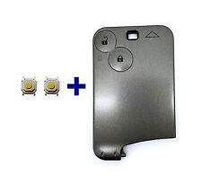 2T Schlüsselkarte Schlüssel Gehäuse für Renault Megane Scenic Laguna + 2x Taster