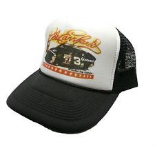vintage Dale Earnhardt Nascar racing Trucker Hat snap back black #3 goodwrench