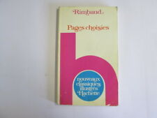 Good - Pages Choisies - Arthur Rimbaud 1955-01-01 1976 printing. Foxing/tanning