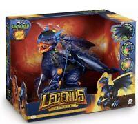 New, Untamed Legends Dragon - Vulcan Interactive Toy  Dark Blue Brand