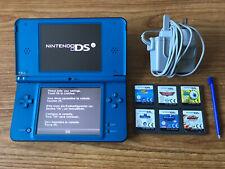 Nintendo DSi XL Consola Sistema Portátil Azul Paquete +6 Juegos Y Cargador