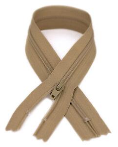 YKK #3 Coil Zipper, 7 inch length, Aztec Beige 896 (10 Pack)