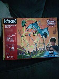 K'nex Thrill Rides Dinosaur Drop Roller Coaster Building Set