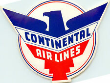 CONTINENTAL AIRLINES - Great Old DIE-CUT Luggage Label, c. 1955