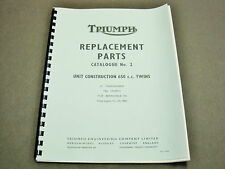Triumph 6T TR6 T120 Replacement Parts Catalogue No2 manual book 1964 650 99-0821