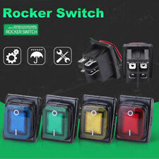 1pc 2 Position On-Off 4Pin 30A 220V Waterproof Car Boat LED Rocker Power Switch