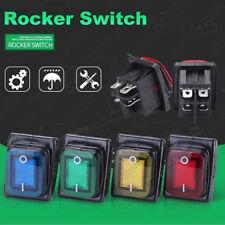 4Pcs 2Position On-Off 4Pin 30A 220V Waterproof Car Boat LED Rocker Power Switch