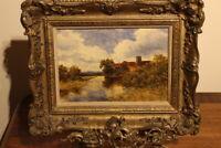Campbell Archibald Mellon  (1876 - 1955) oil on canvas yateley church landscape