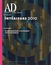 AD CATALOGUE INTERIEURS 2010 - LE STYLE FRANCAIS / 10 DECORATEURS CHEZ ARTCURIAL