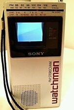 Sony Fd-30A Watchman Portable Tv-Am Fm Stereo Receiver * works great*