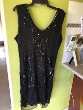 1920 Vintage Inspired Sequin Embellished Fringe Long Gatsby Dress