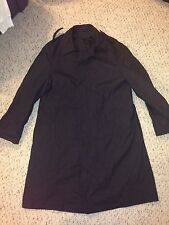 Neptune Garment Company Mens All Weather Black Trench Coat Size 42 Long
