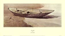 AMERICANA ART PRINT - Spindrift by Andrew Wyeth Row Boat Oar Lake Poster 18x10