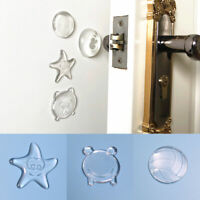 1 X Wall Protector Pad Silicone Anti-Collision Door Handle Bumper Pads Silencer