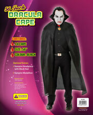 Adult Black Devil Cape Vampires Ladies Halloween Dracula Unisex Fancy Dress