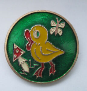 RUSSIAN Pin Badge CARTOON HERO Kid Child Chick Mushroom Metal Brooch Cute Animal