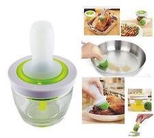 Silicone basting brush oil dispenser bottle glass jar set vinegar bbq sauce