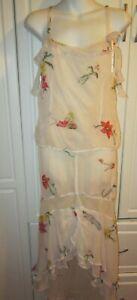 NWT Na-Ta-ya  Nataya  2 Piece Summer Tea Rose Print  skirt set Women Small