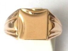 Superb Vintage 9CT Gold Signet Ring. Nice Design. Size U 1/2  Item A5755