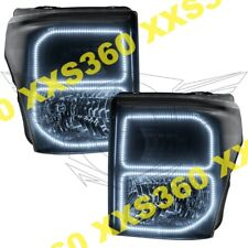 ORACLE Halo HEADLIGHTS BLACK for Ford F250/F350 11-16 WHITE LED Angel Eyes