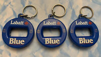 VINTAGE LABBATT'S BLUE Lot of 3  Bev Key® 3 in 1 Beer Can Bottle Opener Key Chn
