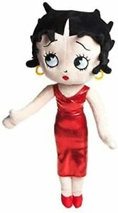 """BETTY BOOP LARGE PLUSH SOFT TOY WITH GLAMOROUS RED DRESS 19"""" 49 cm TALL"""