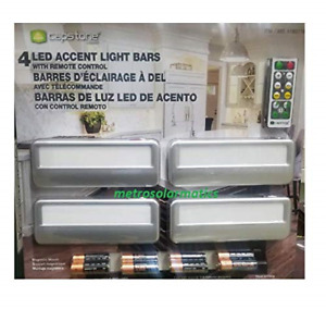 Capstone 4 Wireless LED Accent Light Bars with Remote Control