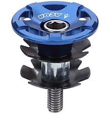 "Acor CNC Alloy Headset Topcap & Star Washer 1.1/8"" MTB Bicycle Bike Blue Top Cap"