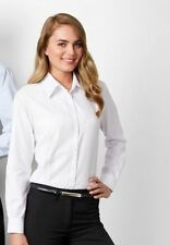 BIZ Collection Ladies White Boston Longsleeve collar Shirt career sz6  BNWOT (28