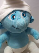 "BIG 17"" SMURF BLUE STUFFED TOY PLUSH TOY BABY MOVIE COLLECTIBLE 2011 SALE"
