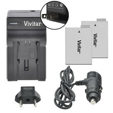 Vivitar Dual Battery LP-E8 & Charger Kit for Canon EOS 650D 700D Rebel T4i T5i