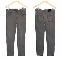 Men's Kaalu Men's 32 x 30 Straight Leg Skinny Jeans Gray Stretch Denim 5-Pocket
