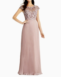 Aidan Mattox Embellished Pleated Gown MSRP $375 Size 10 # 12B 705 Blm