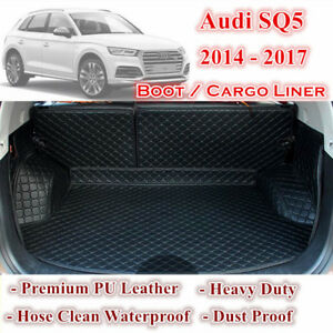 Tailor Made PU Leather Boot Liner Cargo Mats Cover fits for Audi SQ5 2014 - 2018