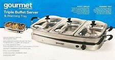 Gourmet by Sensiohome Triple 6.4LBuffet Server with Warming Tray GBSTBS005