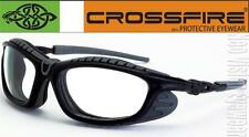 Crossfire Eclipse Clear Anti Fog Lens Foam Padded Safety Glasses Motorcycle Z87+