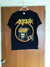Vintage Anthrax tour t-shirt Judge Death 2000ad Europe 2012 thrash metal medium