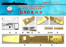 Astillero 1/700 700034 cubierta de madera IJN Kaga para Fujimi