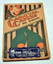 Antique 1932 Book Carnival Capers for Schools Theater Drama Guild One-Act Plays