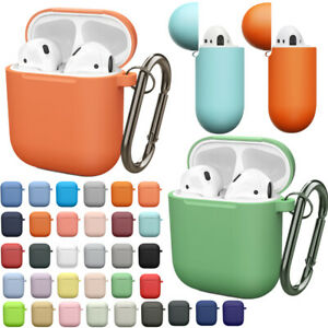Protective Rubber Silicone Case Cover + Keychain for Apple Airpods 1 2 Charging