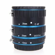 UK Store! CameraPlus® Macro Extension Tube Set Blue (13mm, 21mm, 31mm) For Canon