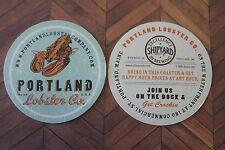 Beer Coaster ~*~ Shipyard CASCO BAY Brewing Co ~ Portland, MAINE Lobster Company