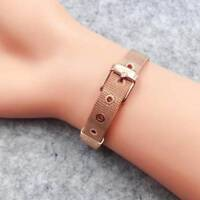 Fashion Women Stainless Steel Mesh Charms Bracelet LOVE Ladies Bracelets  TOP