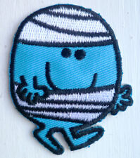 Mr Bump Iron Sew On Embroidered Patch Badge Kids Boys Baby Clothing