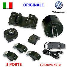 8 Pulsanti cromati VW GOLF 5 6 V VI ORIGINALI + SENSORE devioluci interruttori